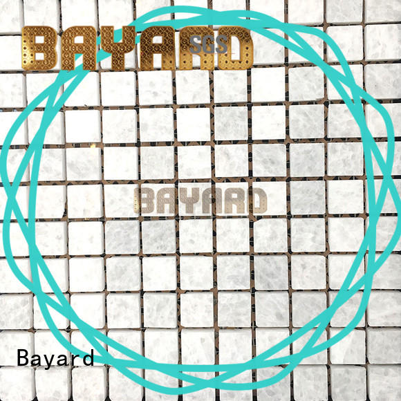 Bayard profdssional light grey mosaic tiles in different shapes for hotel lobby
