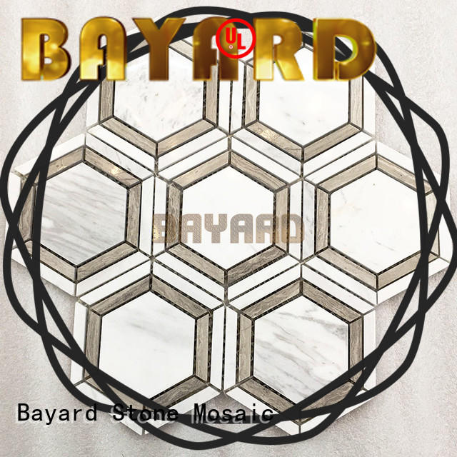 Bayard profdssional blue mosaic floor tile supplier for wall decoration