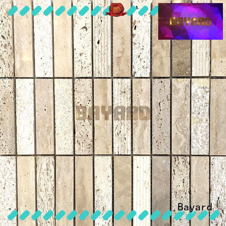 Bayard mosaic travertine mosaic floor tile dropshipping for hotel lobby