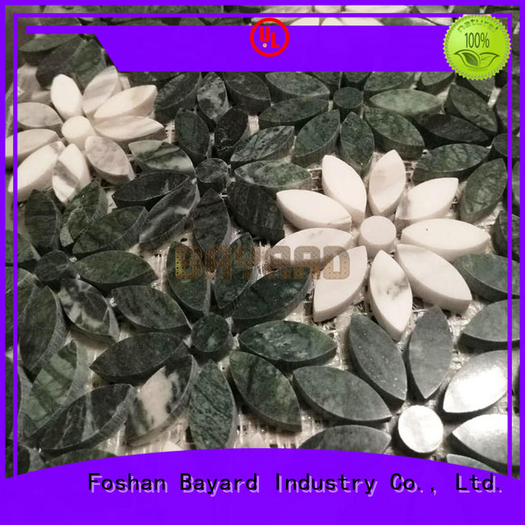 Bayard widely used glass and stone mosaic tile for wall decoration