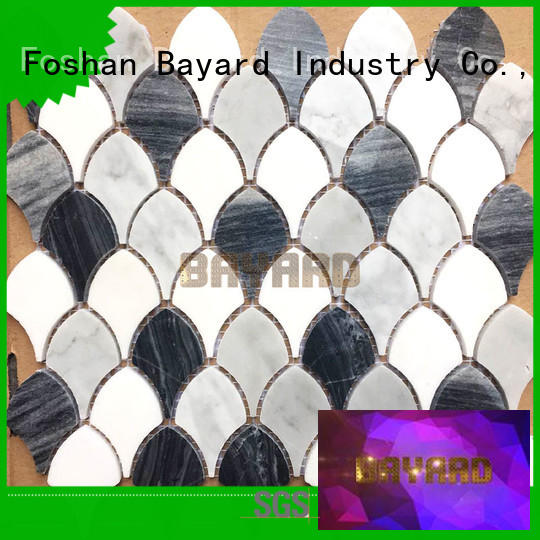 Bayard colors marble mosaic floor tile factory price
