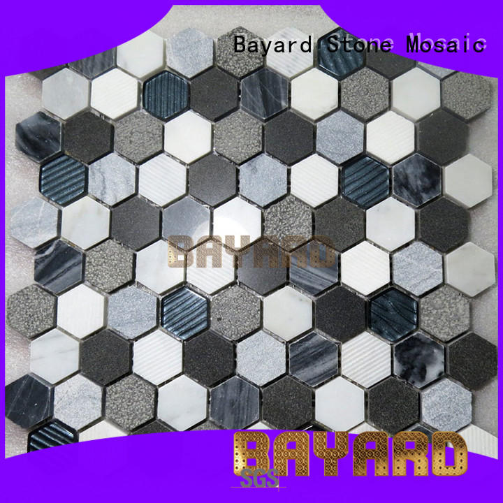 spanish grey mosaic tiles sheets for decoration Bayard