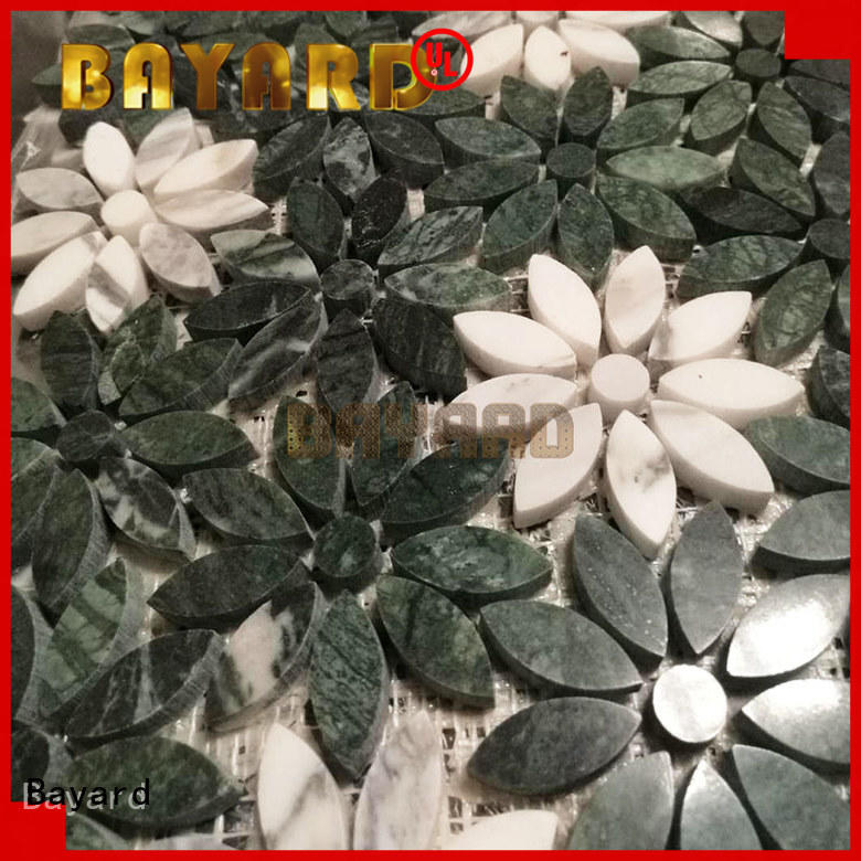 Bayard green round mosaic tiles supplier for bathroom