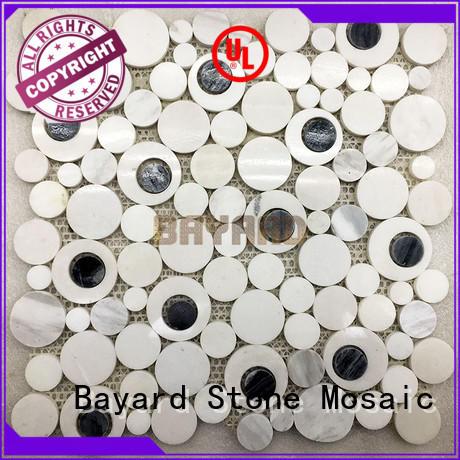 Bayard glossy mosaic floor tile sheets factory price for bathroom
