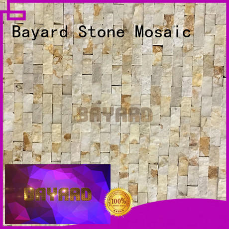 widely used black marble mosaic tile patterned factory price for hotel lobby