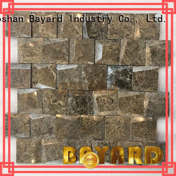 Bayard marfil mosaic tile kitchen backsplash supplier for TV wall