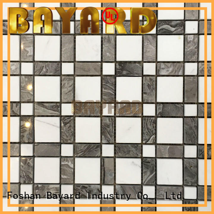 good-looking rectangle mosaic tiles white factory price for bathroom