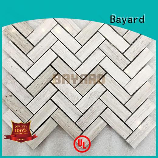 Bayard black mosaic tile patterns in china for TV wall