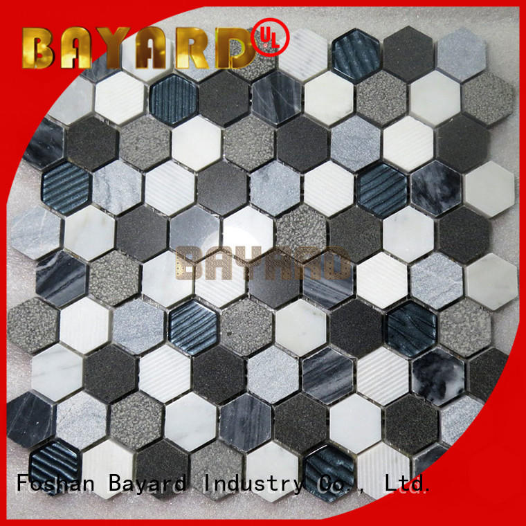 new arrival mosaic wall marfil factory for TV wall