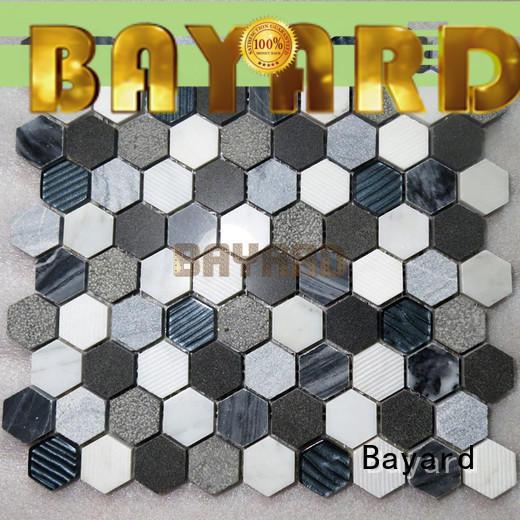 Bayard black mosaic floor tiles dropshipping for TV wall