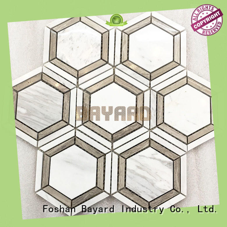 Bayard profdssional black and silver mosaic tiles owner for bathroom