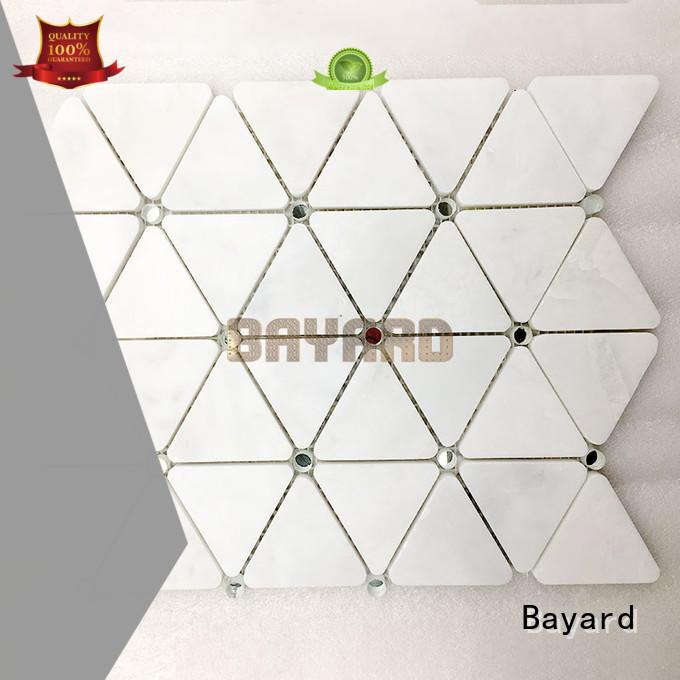 Bayard square rectangle mosaic tiles marketing for wall decoration