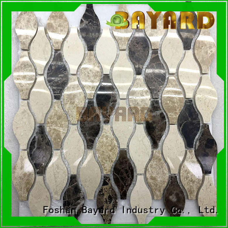 Bayard glossy metal mosaic tiles dropshipping for foundation