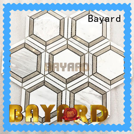 Bayard blink black and grey mosaic tiles in different shapes for bathroom