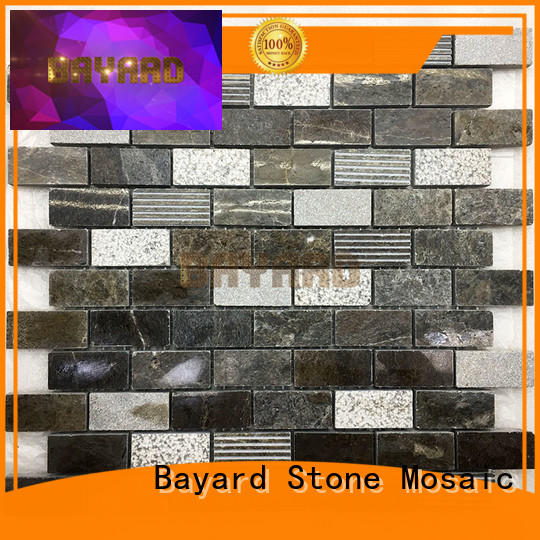 Bayard natural stone mosaic wall tile light for supermarket