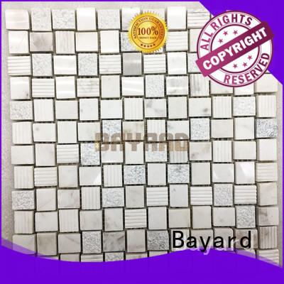 Bayard rectangle black and silver mosaic tiles overseas market for bathroom