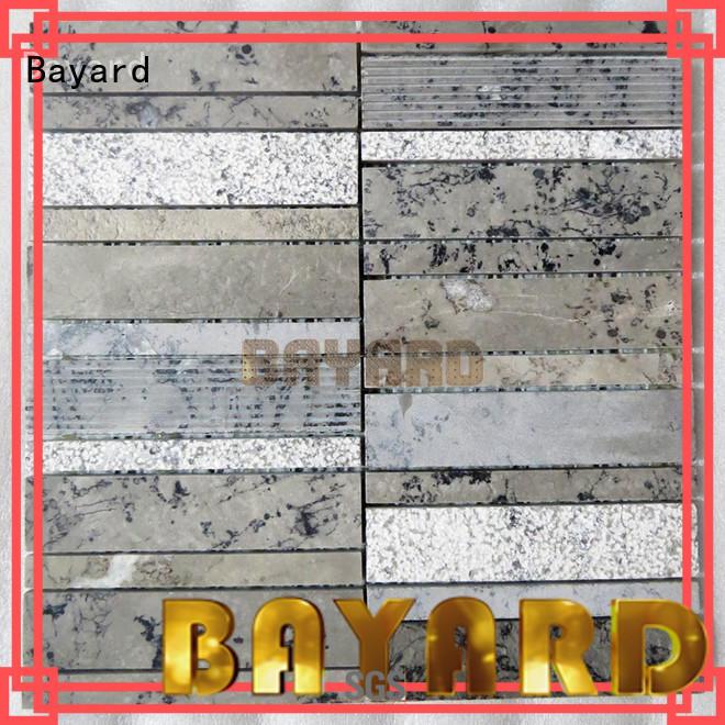 Bayard elegant black mosaic tile sheets factory price for bathroom