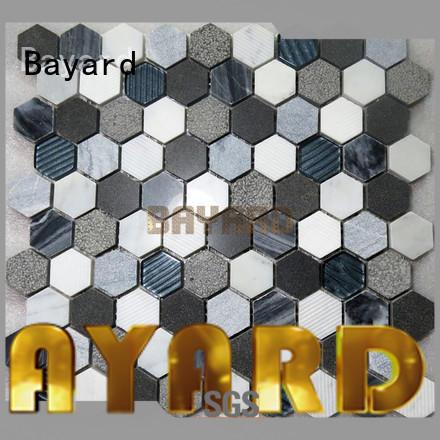 Bayard marfil mosaic tile sheets supplier for TV wall