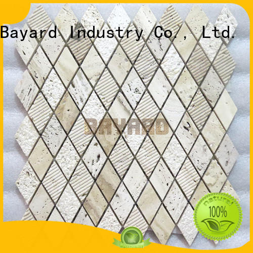 Bayard chic travertine mosaic floor tile factory price for decoration