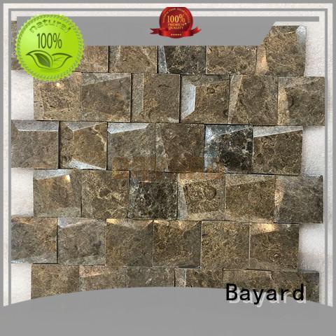 Bayard crema marble mosaics factory price for TV wall