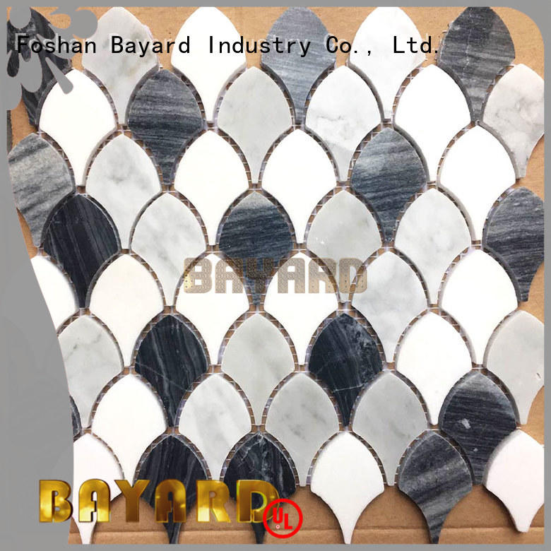 high-end stone mosaic tile sheets dropshipping for bathroom