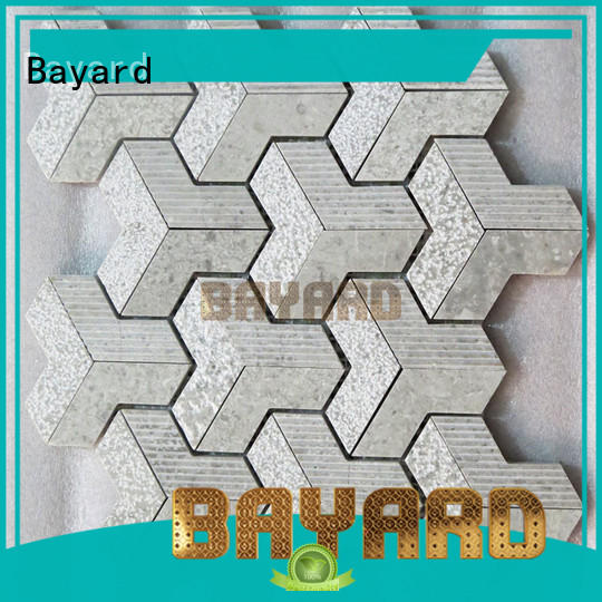 glossy stacked stone mosaic tile in china for wall decoration Bayard