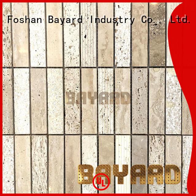 Bayard natural grey marble mosaic tiles supplier for foundation