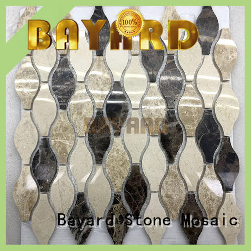 Bayard upscale glass and stone mosaic tile for wholesale for wall decoration