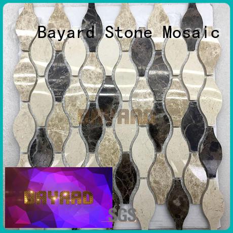 Bayard fashion design mosaic tiles craft vendor for wall decoration
