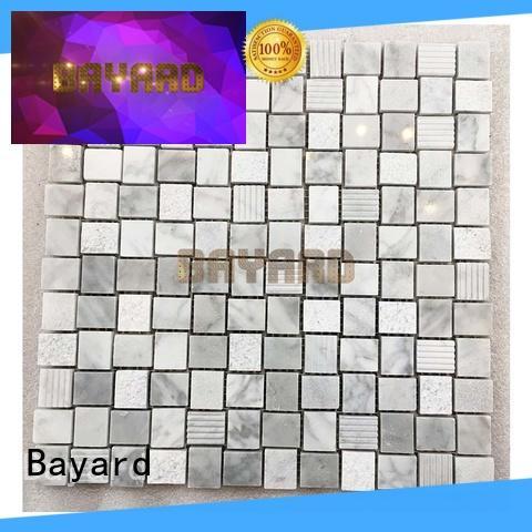 Bayard natural black mosaic tile sheets factory for TV wall