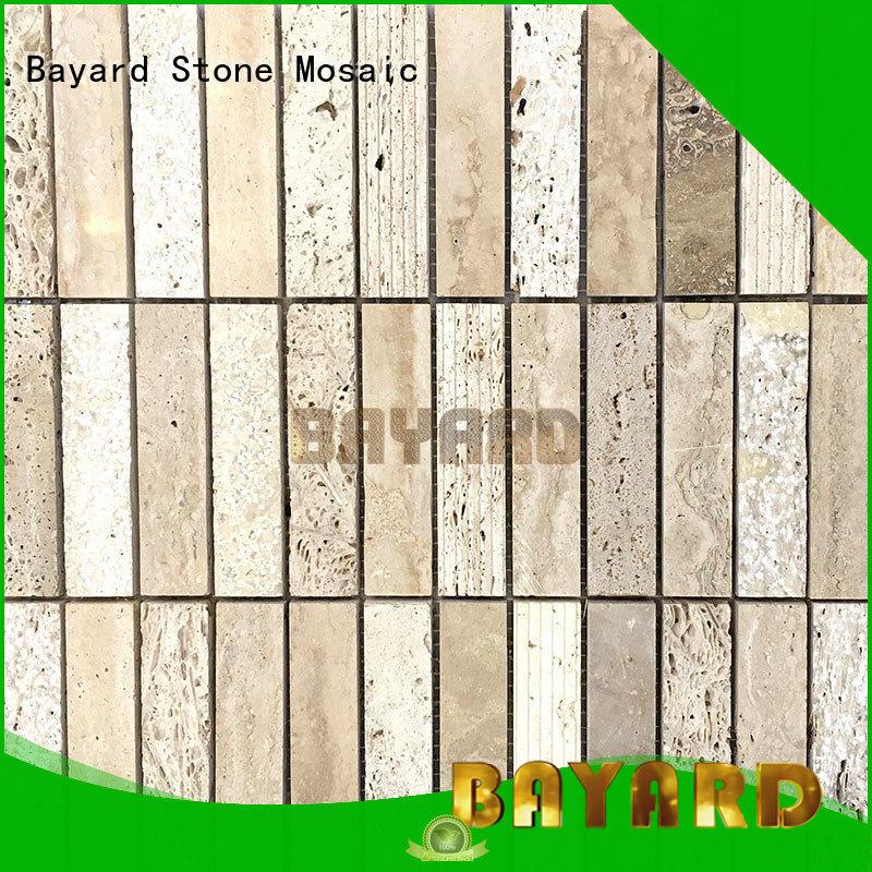 Bayard professional black mosaic tile backsplash supplier for hotel lobby