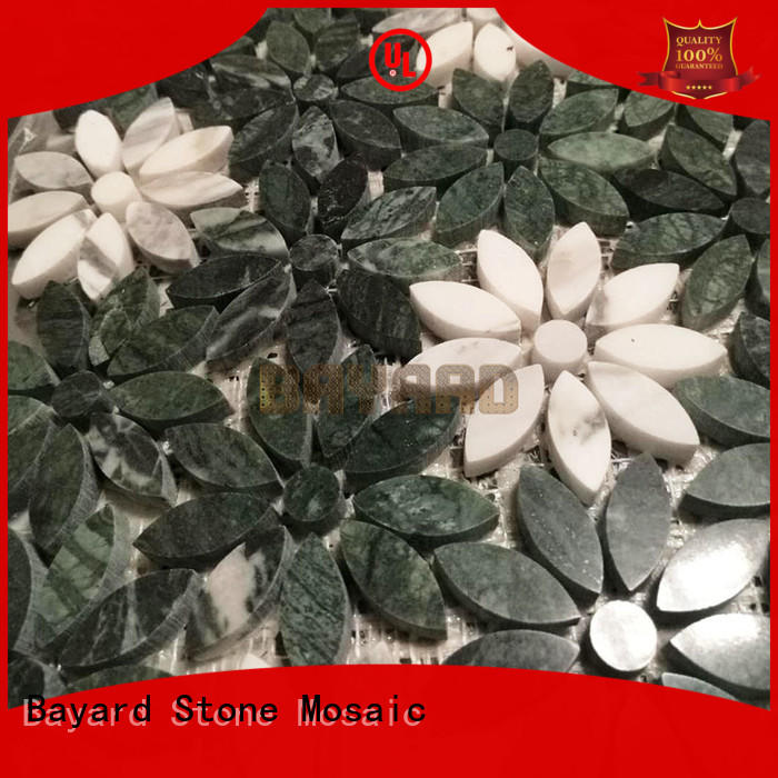 high quality marble mosaic floor tile flower supplier for wall decoration