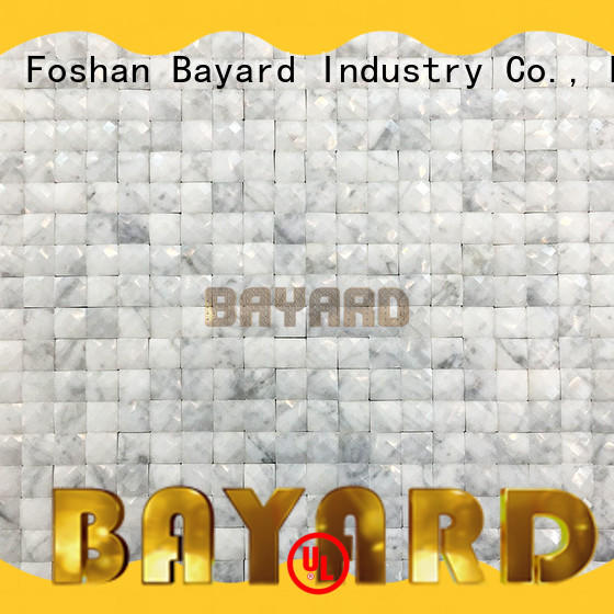 Bayard simple design green mosaic bathroom tiles in different shapes for hotel lobby