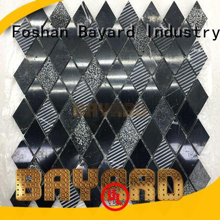 Bayard black mosaic bathroom tiles vendor