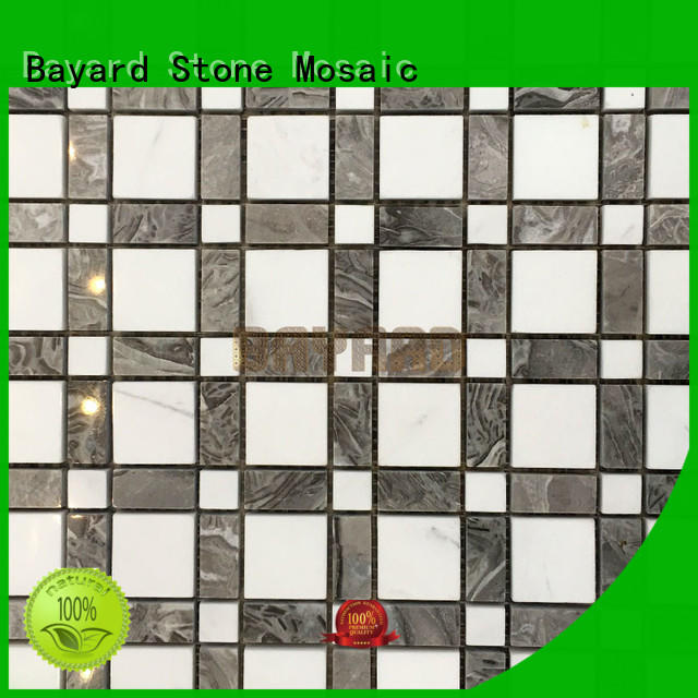 Bayard high reputation black and grey mosaic tiles factory price for foundation