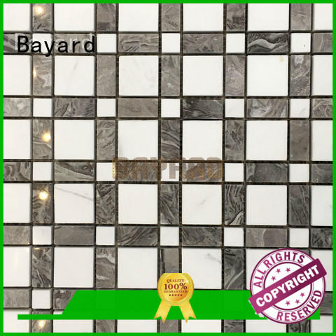 Bayard simple design black and silver mosaic tiles owner for hotel lobby