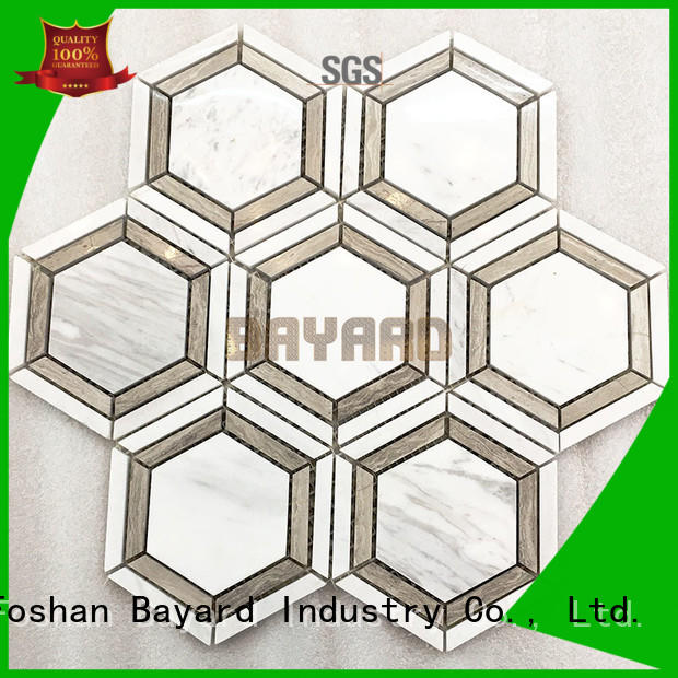 Bayard square black and silver mosaic tiles factory price for hotel lobby