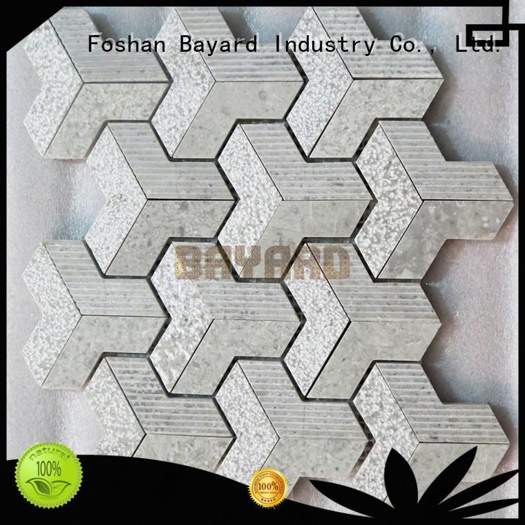 Bayard high-end grey mosaic floor tiles for wholesale for bathroom