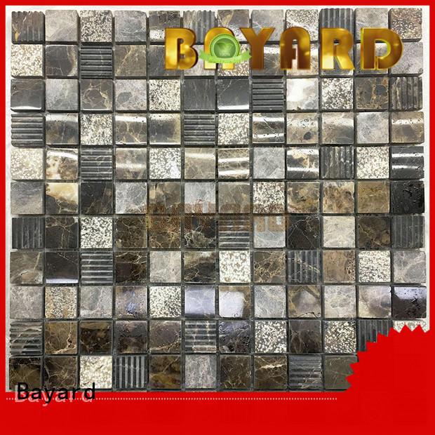 Bayard grey mosaic tile sheets for bathroom