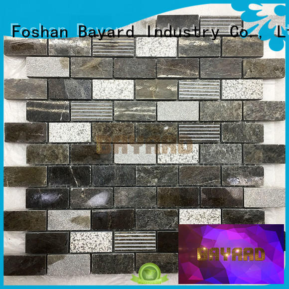 high quality marble mosaics mix supplier for TV wall