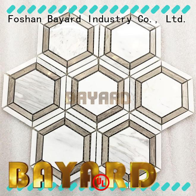Bayard decorative black and grey mosaic tiles overseas market for wall decoration