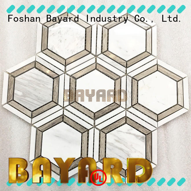 Bayard decorative black and grey mosaic tiles overseas market for wall decoration