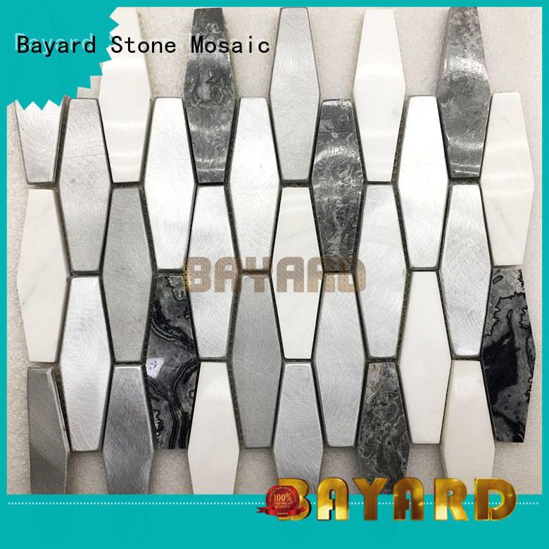 Bayard elegant black and gray mosaic tile for wholesale for bathroom