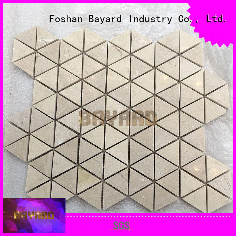 Bayard brown mosaic floor tile beige for hotel