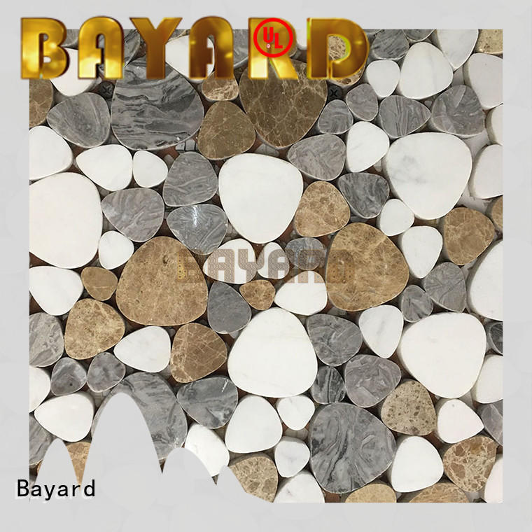 Bayard light grey mosaic floor tiles factory price