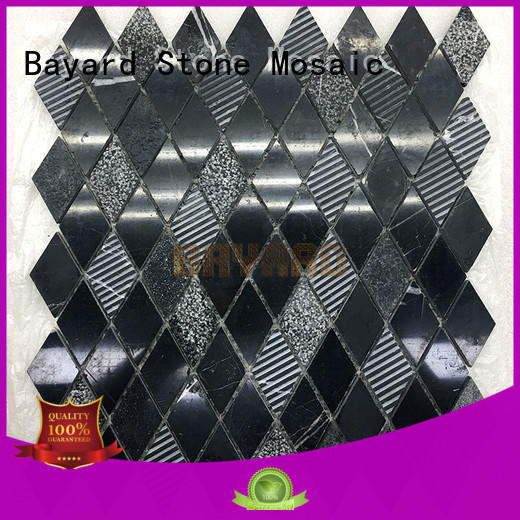 Bayard natural mosaic floor tiles black for decoration