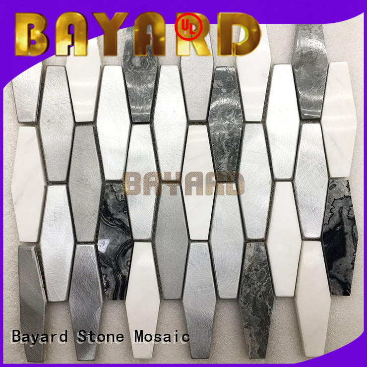 upscale gray mosaic tile stone supplier for bathroom