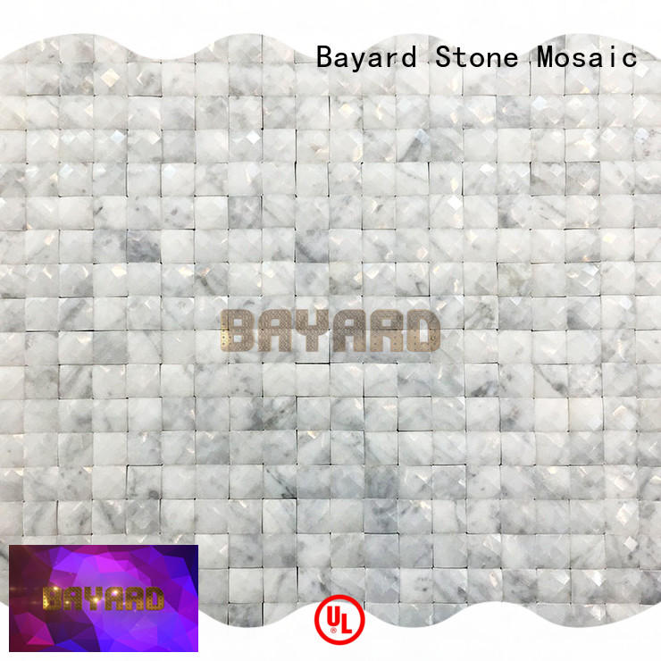 Bayard faces rectangle mosaic tiles marketing for hotel lobby