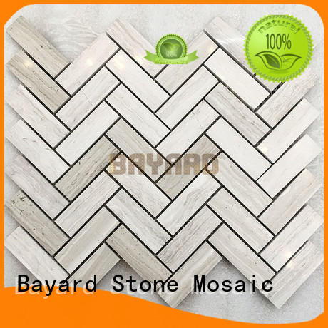 Bayard natural black stone mosaic tile marquina for decoration