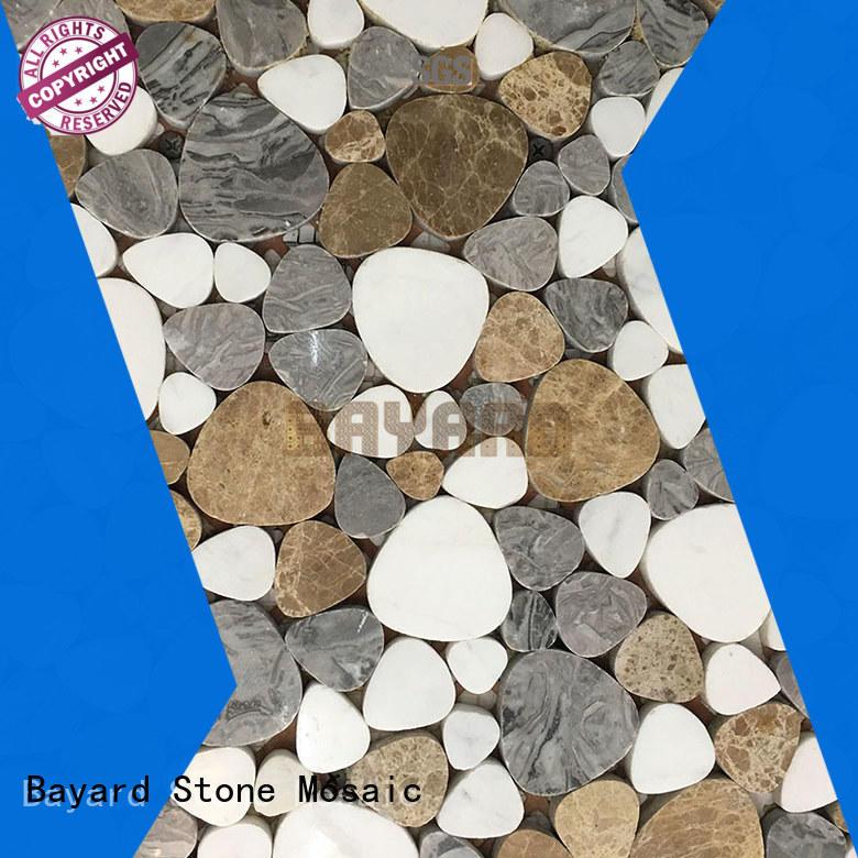 Bayard elegant silver grey mosaic tiles flower for bathroom